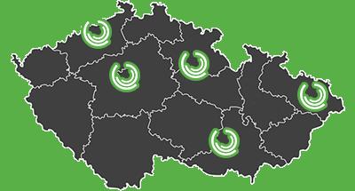 Pobočky MK-Vison.cz na mapě ČR